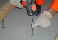 Крепление лаг к бетонному полу без сверления